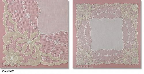 BEAUTIFUL VINTAGE WEDDING HANDKERCHIEF