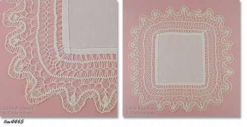 VINTAGE WEDDING HANDKERCHIEF WITH EXQUISITE EDGING