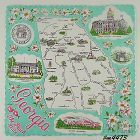 STATE SOUVENIR HANKY, GEORGIA �THE PEACH STATE�