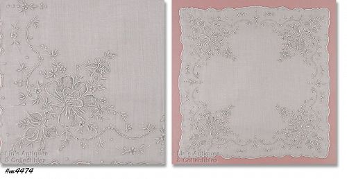 EXQUISITE MADEIRA VINTAGE WEDDING HANDKERCHIEF