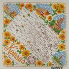STATE SOUVENIR HANKY, KANSAS �THE SUNFLOWER STATE�