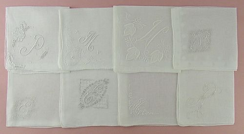 CHOICE OF VINTAGE MONOGRAM HANKIES HANDKERCHIEFS (SOME HAVE BEEN SOLD)