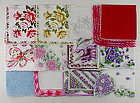 LOT OF 1 DOZEN ASSORTED VINTAGE HANKIES HANDKERCHIEFS