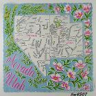 STATE SOUVENIR HANDKERCHIEF, NEVADA AND UTAH