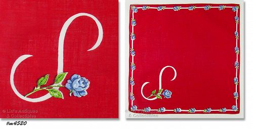 BEAUTIFUL MONOGRAM �S� HANDKERCHIEF
