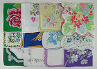 ONE DOZEN VINTAGE NOT PERFECT HANKIES FOR RE-PURPOSING OR CRAFTING
