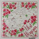 STATE SOUVENIR HANDKERCHIEF, WEST VIRGINIA