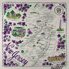 STATE SOUVENIR HANKY, NEW JERSEY �THE GARDEN STATE�