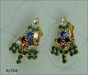EISENBERG ICE � CANDLE TREE CHRISTMAS TREE EARRINGS