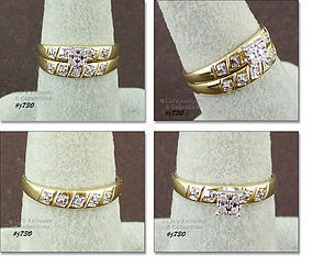 10KT YELLOW GOLD WEDDING RING SET