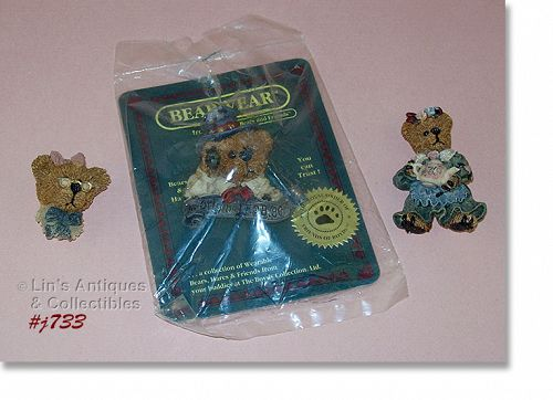 LOT OF 3 BOYDS BEARWEAR PINS