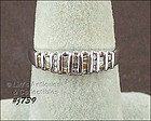 10KT WHITE GOLD DIAMOND RING SIZE 6 ¾