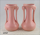 McCOY POTTERY � PAIR OF MATCHING PINK VASES
