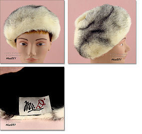 ABSOLUTELY BEAUTIFUL VINTAGE FUR HAT BY MR. D�