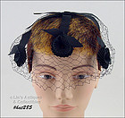 VINTAGE BLACK NETTING VEIL HAT