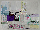 29 Vintage Hankies with Several Flaws for Re-Purposing or Crafts