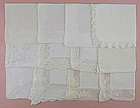 One Dozen Vintage Barely Imperfect White Hankies for Re-Purposing