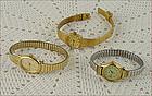 Lot of 3 Vintage Timex Quartz Ladies Women's Watches -- All Working!