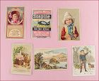Assorted Lot of Six Vintage Trade / Advertising Cards