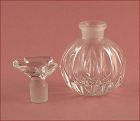 Vintage Glass Perfume Bottle with Glass Bird Stopper