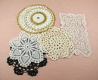 Lot of 7 Assorted Vintage Crochet Doilies