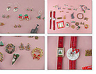 Lot of Vintage to New Christmas Jewelry Earrings, Bracelets, Watches