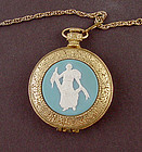 "Vintage Pocket Watch Style ""Diana"" Compact Made by Max Factor"