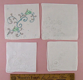 "Choice of Vintage ""E"" and ""C"" Monogram Handkerchiefs"
