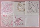 Choice of Vintage Monogram Handkerchiefs Hankies