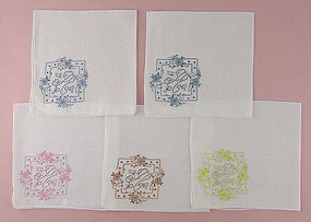 Choice of Vintage Madeira �A� Monogram Hankies (Some Have Been Sold)