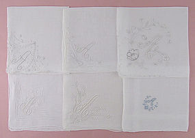 Choice of Vintage Madeira Monogram A Handkerchiefs Hankies