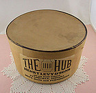 """Vintage Hat Box """"THE HUB"""" Henry Levy & Sons"""