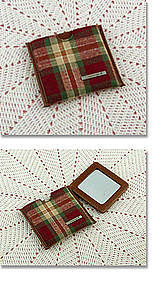 Longaberger Orchard Park Plaid Mirror Holder with Mirror