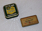 Two Vintage Tins BAND-AID and Miller Line Typewriter Ribbon
