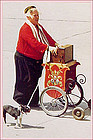 Mr. B the Dutch Organ Grinder in Pella�s Tulip Time Parades Postcard