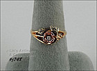 10K BLACK HILLS GOLD ROSE WITH DIAMOND CENTER RING SIZE 7