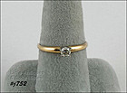14K YELLOW GOLD ROUND DIAMOND SOLITAIRE RING SIZE 8 ¾
