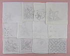 Lot of One Dozen  White / Wedding Vintage Hankies Handkerchiefs