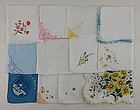 One Dozen Vintage Barely Imperfect Handkerchiefs for Re-Purposing