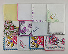 One Dozen Vintage Barely Imperfect Assorted Hankies for Re-Purposing