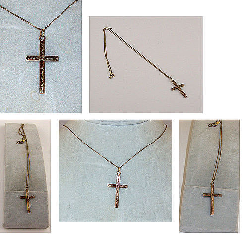 BEAUTIFUL VINTAGE CROSS ON B. DAVID CHAIN