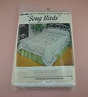 VINTAGE BUCILLA JIFFY CROSS-STITCH QUILT KIT �SONG BIRDS� DOUBLE SIZE