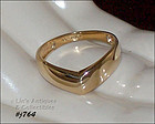 10k YELLOW GOLD CHEVRON BAND SIZE 7 ¼