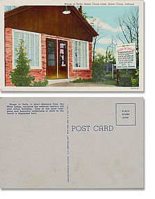 HOUSE OF DOLLS AT SANTA CLAUS LAND, SANTA CLAUS, INDIANA POSTCARD