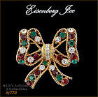EISENBERG ICE � BOW SHAPED CHRISTMAS PIN