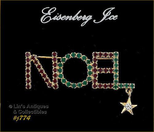 EISENBERG ICE � NOEL PIN WITH STAR DANGLE