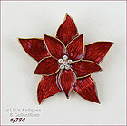 EISENBERG ICE � RED POINSETIA SHAPED PIN
