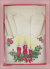 VINTAGE CHRISTMAS GIFT HANDKERCHIEF MINT IN ORIGINAL BOX