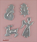 ALUMINUMWARE �  4 VINTAGE CHRISTMAS COOKIE CUTTERS