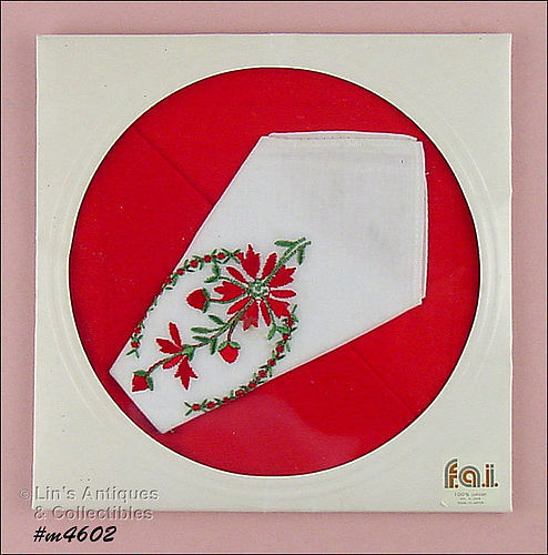 TWO BEAUTIFUL COLORFUL VINTAGE HANDKERCHIEFS MINT IN PACKAGE